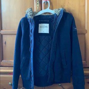 Abercrombie Navy blue coat